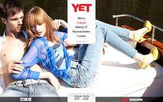 Desenvolvimento do site da Coleção Verão 2012 da Yet Jeans, marca do Grupo Latreille.