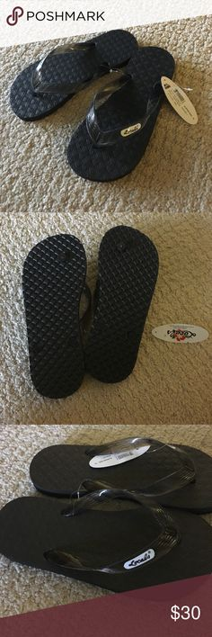 a3ee15c568cd NEW Locals Sandals Locals Flip Flops Slippers Black Clear Hawaii Rubber  Men s Women s Free Shipping -Black Rubber Sole -Unisex Styles -Translucent  Color ...