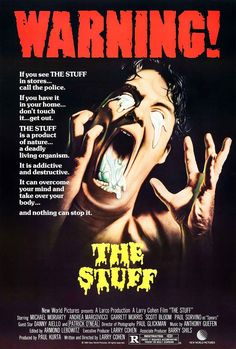 The Stuff - Review: The Stuff (1985) is an American comedy science fiction horror movie that is also known as Larry Cohen's… #Movies #Movie