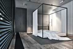 Use of wooden flooring throughout the home has been a conscious choice for its warmth, earthiness and homely feel — allowing the homeowners to stay connected to nature even when indoors. Intriguingly, a four-poster bed is placed on the floor – a concept advocated according to ancient Japanese philosophy– so as to be closer to mother earth.