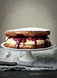 What Katie Ate » Limoncello and Balsamic Strawberry, Victoria Sponge Teacake