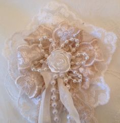 Shabby chic Lace flower tutorial . Here is the link, http://www.annespapercreations.com/2014/01/shabby-chic-lace-flower-tutorial-woc.html#comment-form - Anne Rostad