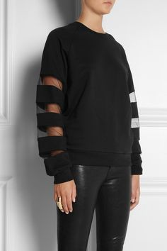 TNTees | Dodo mesh-paneled cotton-fleece sweatshirt | NET-A-PORTER.COM