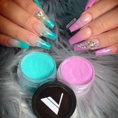 VBP Glamorous Nude, 169 and 165 Ocean Drive Collection, Non-wipe Topcoat Bright Summer Acrylic Nails, Purple Acrylic Nails, Sculpted Nails, Cute Acrylic Nail Designs, Fire Nails, Dream Nails, Swag Nails, Grunge Nails, Perfect Nails
