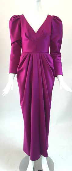 Lillie Rubin magenta dress / Vintage Lillie by audreysofnaples
