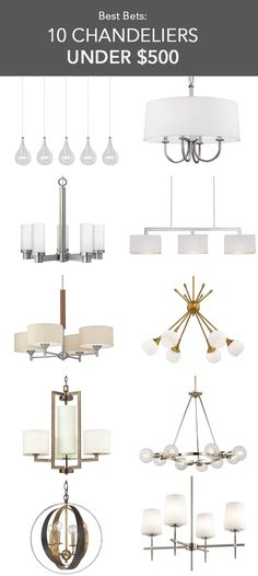 Because the chandelier is typically the pièce de résistance, it often has the price tag to go with it. Here are 10 favorite modern chandeliers that don't break the bank but are still worthy of statement-maker status.