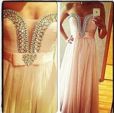 Pink Sweetheart Strapless Bead Chiffon Back Lace Up