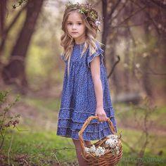 DOTTIE Denim floral ruffle dress - 11 Main