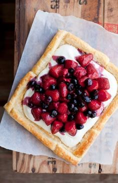 NOMU is an original South African food and lifestyle concept by Tracy Foulkes. Sweet Pie, Sweet Tarts, Tart Recipes, Dessert Recipes, Desserts, Butter Puff Pastry, Brownie Cake, Brownies, Berry Tart