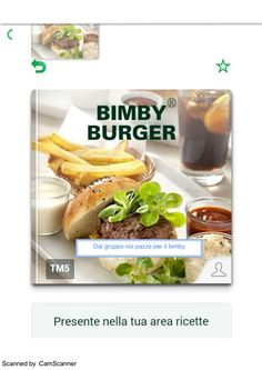 Bimby Burger ricettario ... Pagina 1 di 55 Turkey Burgers, Baked Potato, Hamburger, Vegetarian, Google Drive, Ethnic Recipes, Food, Recipes, Home