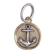 Camp Charm - Anchor - Brass and Sterling Silver