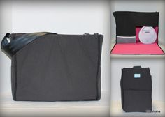 Choose your lining, Solid Black Maryssa Breast Pump Bag for Spectra S1 or S2 pumps with zipper top closure by EllaAlana on Etsy