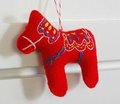 hopscotch lane: Handmade Dala Horse