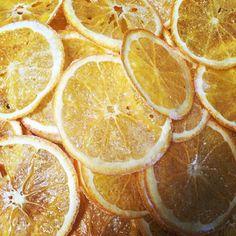 Zoete sinaasappel chips