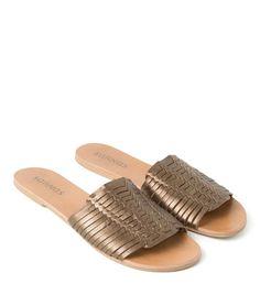 sandália rasteira zaki | Salinas