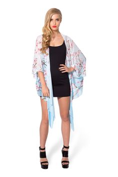 Cherry Blossom Blue Kimono by Black Milk Clothing $80AUD