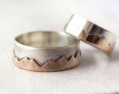 Range Ring . mini. Sterling Silver Mountain Ring by foxandthefawn