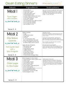 Clean Eating Meal Plan - Week 4 | homemadeforelle.com
