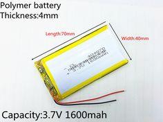 >> Click to Buy << Polymer battery 1600 mah 3.7V 404070 smart home MP3 speakers Li-ion battery for dvr,GPS,mp3,mp4,cell phone,speak #Affiliate