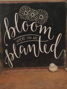 Bloom where you are planted wood sign by WanderandPursue on Etsy https://www.etsy.com/listing/508803464/bloom-where-you-are-planted-wood-sign
