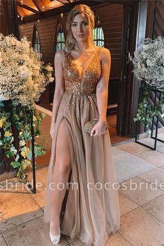 Chic V-neck Tulle A-line Prom Dress - Buy Chic V-neck Tulle A-line Prom Dress from Cocosbride, Long Sleeve Prom Dresses, Prom Gowns, Prom - Prom Dresses Long With Sleeves, Prom Dresses With Sleeves, A Line Prom Dresses, Prom Dresses Online, Cheap Prom Dresses, Ball Dresses, Evening Dresses, Formal Dresses, Dress Prom