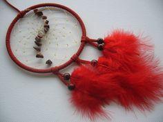 Sternzeichen Traumfänger in rot mit Rotem Jaspis von Hochwertige Traumfänger -Edelstein Dreamcatcher-Traumnetz.com auf DaWanda.com