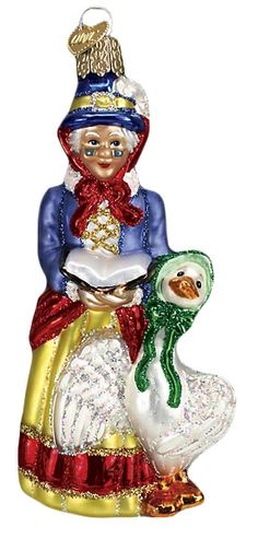 The Jolly Christmas Shop - Old World Christmas Mother Goose Ornament, $17.99 (http://www.thejollychristmasshop.com/old-world-christmas-mother-goose-ornament/)