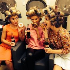Because all girls should have a picture like this! Donuts, hair rollers, and coke! Tessa, we so should!