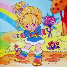 "1984 Little Golden Book - ""Rainbow Brite and the Brook Meadow Deer"" 1980s Childhood, Childhood Memories, 80s Characters, Best 90s Cartoons, Favorite Cartoon Character, Rainbow Brite, 80s Kids, Little Golden Books, Unique Image"