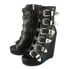 Jeffrey Cambell Buckles tie in with my theme