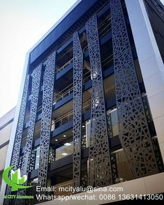 Aluminum perforated cladding panel for curtain wall facade cladding wall for sale – CNC Aluminum perforated panel for wall cladding manufacturer . Cladding Design, Exterior Cladding, Facade Design, Exterior Design, Balustrade Balcon, Balustrades, Aluminium Cladding, Cladding Panels, House Ceiling Design
