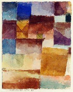 In der Einoede, 1914.43. (Kamel in der - Paul Klee als Kunstdruck oder handgemaltes Gemälde.