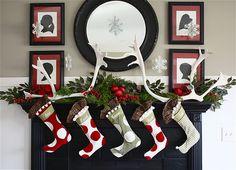 Collection of 25 unique Christmas mantels
