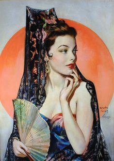 Illustration by Henry Clive for the cover of The American Weekly, November 17, 1946