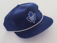 promo code e8aa4 1ff78 Vintage Toronto Maple Leafs Ted Fletcher Snapback Hat NHL VTG