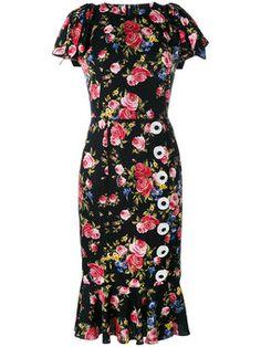 платье с рисунком из роз