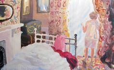 In the Afternoon. Domestic interior painting. Bedroom. Thompsons Galleries | Brita Granstrom