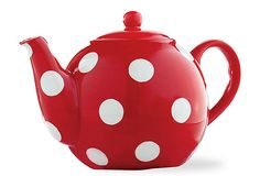 This belongs here right? Hey, it goes in the kitchen! >.>  Polka Dot Teapot on OneKingsLane.com
