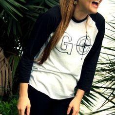 GO apparel raglan ✈️ Brand new GO apparel raglan shirt. This shirt is Unisex. Next level Tops