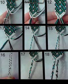 Friendship Embroidery Bracelets friendship bracelet tutorial 2 by on DeviantArt - Floss Bracelets, Bracelet Knots, Bracelet Crafts, Bracelet Making, Lanyard Knot, Diy Bracelets With String, Woven Bracelets, Mochila Crochet, Diy Friendship Bracelets Patterns