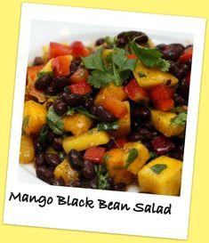 Mango Black Bean Salad: 16oz can black beans rinsed & drained, 1 pint ...