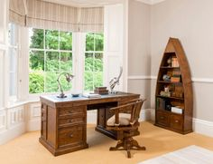 Make work a little less daunting with some beautiful furniture like this Rustic Chic Office Set. Furniture Movers, Home Office Furniture, Furniture Styles, Fine Furniture, Wooden Furniture, Furniture Ideas, Office Package, Luxury Furniture Stores, Wooden Bookcase