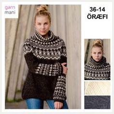 36-17 FLÓI Modell 2 - Garnmani.no - Spesialist på islandsk ull Icelandic Sweaters, Crochet Jacket, Pullover, Turtle Neck, Knitting, Pink, Ideas, Fashion, Tejidos