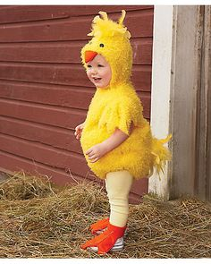 baby chick costume - Costume Inspirations  | LOL, Alter it a bit with a pink pony costume and you have Pinkie Pie in HER costume!