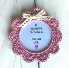 Crochet Photo Frames with a hint of inspiration from www.prettyhooked.co.uk