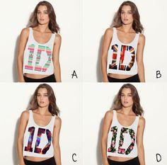 One Direction Shirt 1D Logo Crop Tank  Nebula by ForeverHipsterCo, $18.00 @Debi Hickman- for Rachel