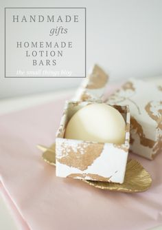 Homemade Christmas Gift and Stocking Stuffer Gift Idea for these easy DIY Homemade Lotion Bars.