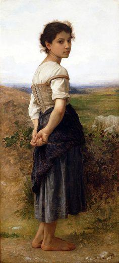 The Young Shepherdess,1885 | Bouguereau | San Diego Museum of Art California USA