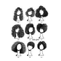 What's your hair type? 3b Curly Hair, Big Hair, Curly Hair Styles, Natural Hair Styles, Hair Illustration, Hair Sketch, Curly Girl Method, Hair Reference, How To Draw Hair