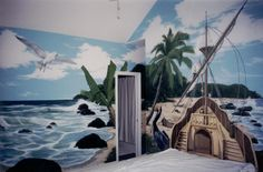 Pirate island  www.dwcustommurals.com, Dream Walls Murals and Faux Finish, By Artist Alfredo Montenegro